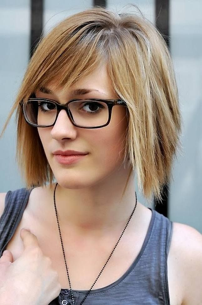 Layered Short Hairstyles With Glasses